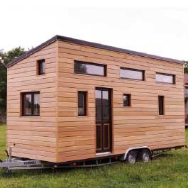modèle ou plan de tiny house : La Familiale - Les chalets nomades, constructeur francais de tiny houses en France