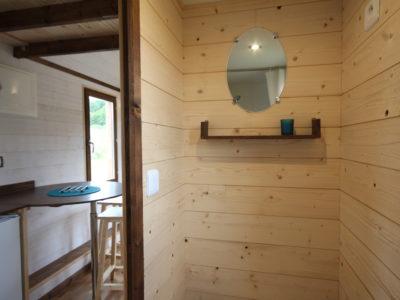 toilette sèche dans une tiny house, chalet nomade