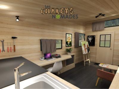 Tiny House Atelier / Bureau : vue d'ensemble v2