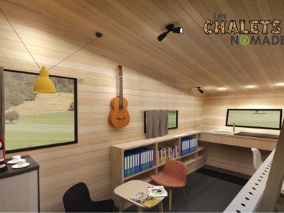 Tiny House Atelier / Bureau : vue d'ensemble v4