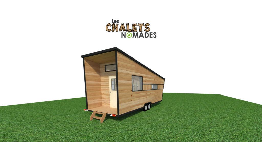 mod le de tiny house l 39 atelier le bureau les chalets nomades. Black Bedroom Furniture Sets. Home Design Ideas