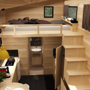 2 chambres en mezzanine