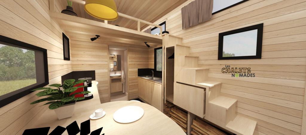 mod le de tiny house la familiale les chalets nomades. Black Bedroom Furniture Sets. Home Design Ideas