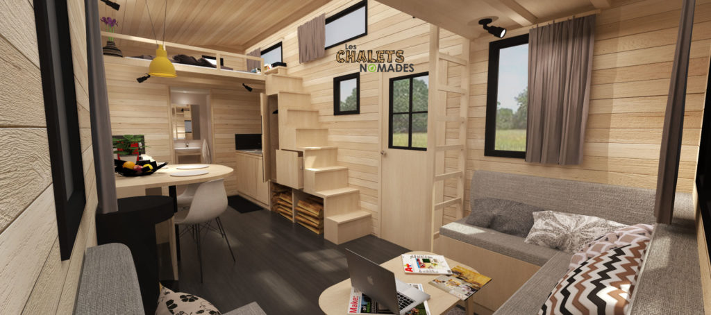 mod le de tiny house la familiale les chalets nomades. Black Bedroom Furniture Sets. Home Design Ideas