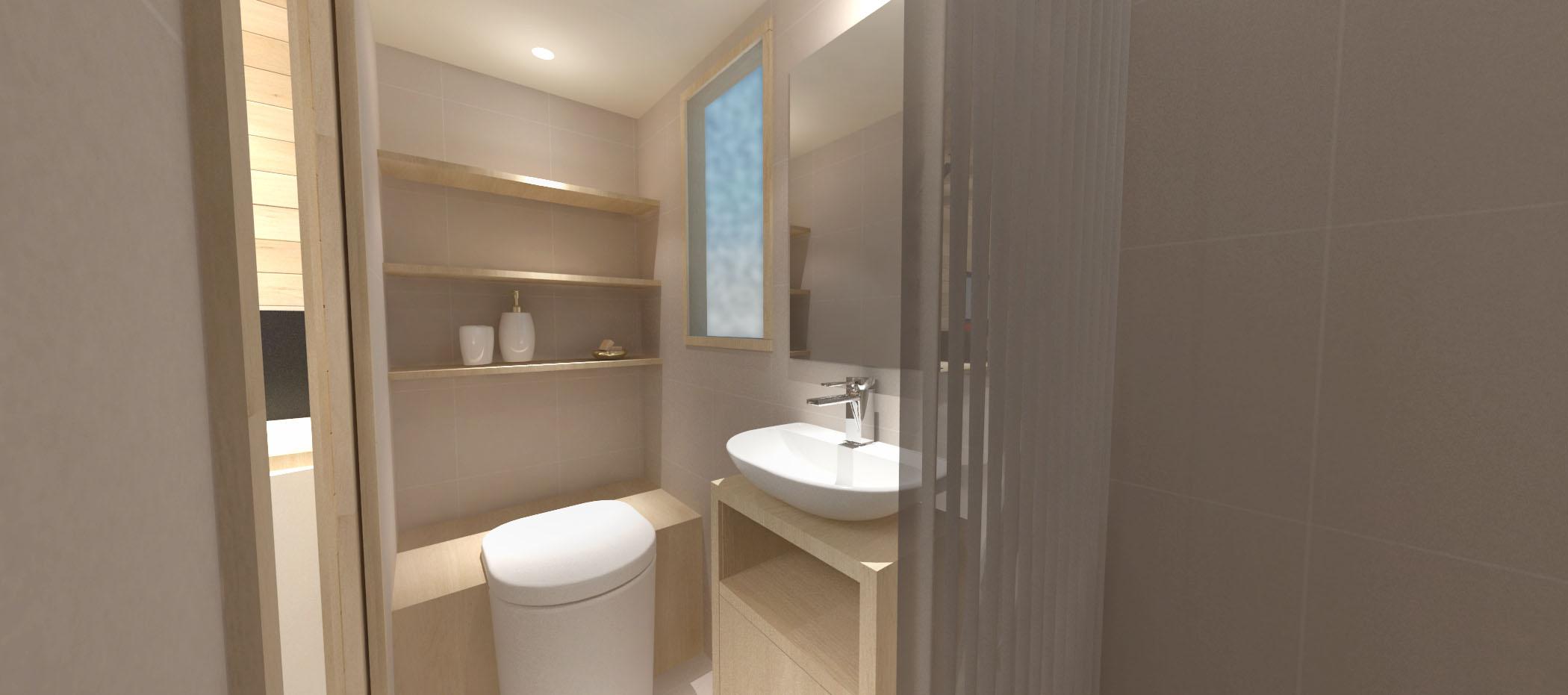 tiny house la familiale salle de bain quip e d 39 un lavabon d 39 une douche et de toilettes les. Black Bedroom Furniture Sets. Home Design Ideas