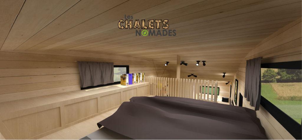 mod le tiny house la quatuor les chalets nomades. Black Bedroom Furniture Sets. Home Design Ideas