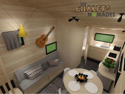 La Tiny House La Quatuor : Salon et cuisine