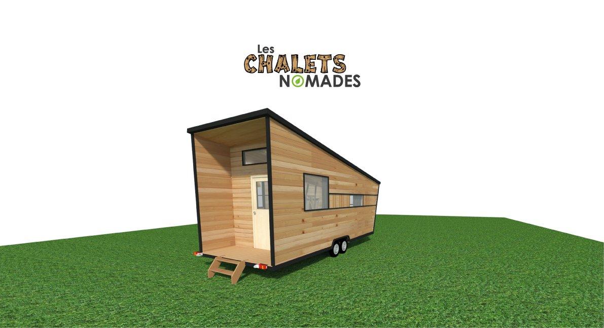 Modèle de Tiny House : L'Atelier / Bureau -Vue extérieure