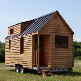modèle ou plan de tiny house : L'Harmonie - Les chalets nomades, constructeur francais de tiny houses en France