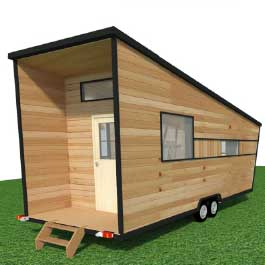 modèle ou plan de tiny house : L'atelier / Bureau - Les chalets nomades, constructeur francais de tiny houses en France