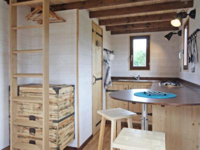 espace de vie d'une Tiny House (chalet nomade)