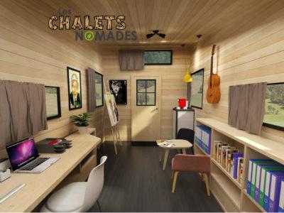 Tiny House Atelier / Bureau : vue d'ensemble v3