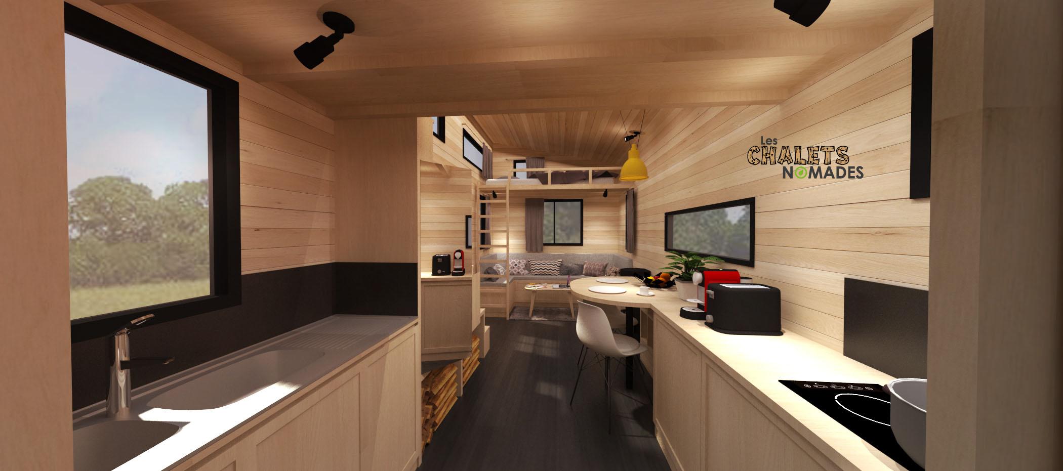 Une cuisine équipée et aménagée