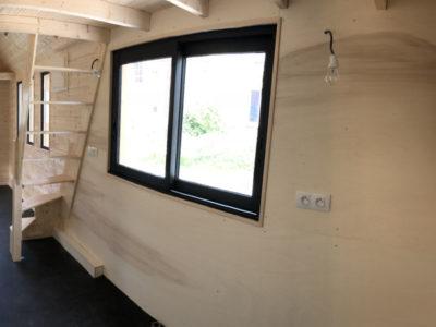 L'espace cuisine est à aménager par le client. Ce modèle Harmonie a été construit dans nos ateliers du Perche (Orne, Eure et Loir et Sarthe) entre Chartres, Le Mans et Alençon