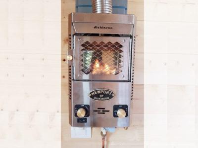 Installation de votre poêle au gaz pour chauffer votre Tiny House 100% autonome durant les hivers en Bretagne : Rennes, Quimper, Nantes, Saint Brieuc, etc.